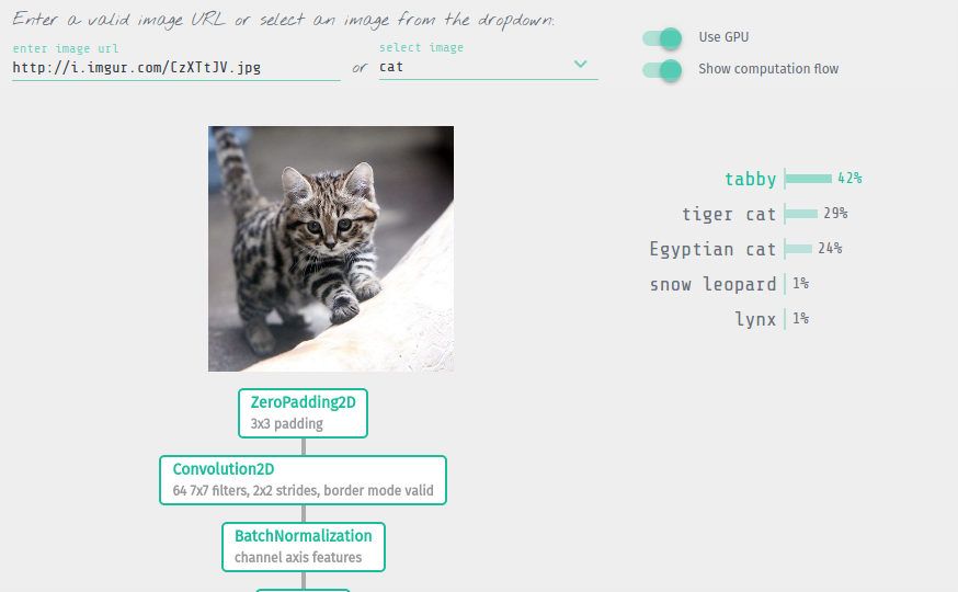 Keras js - Run Keras models in the browser